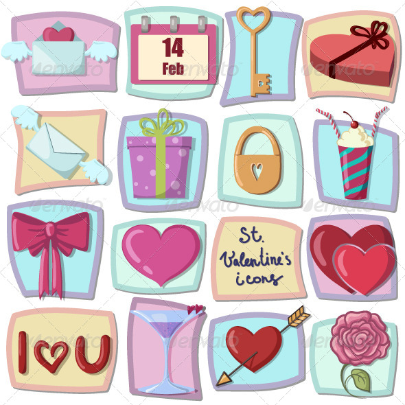 Valentines Day Icons  - Valentines Seasons/Holidays