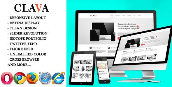 Clava – Multipurpose Responsive HTML Template
