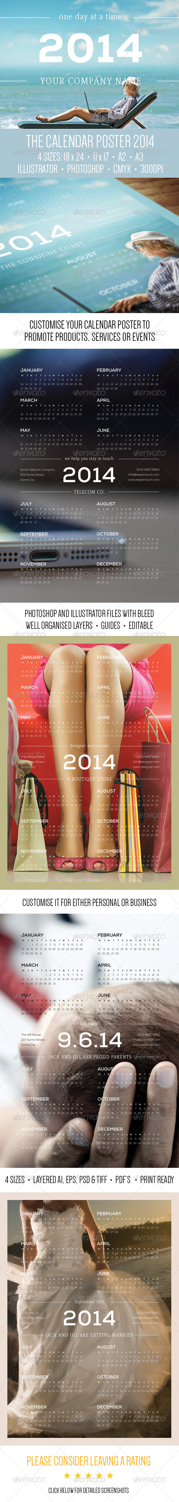 The Calendar Poster: 2014 - Calendars Stationery