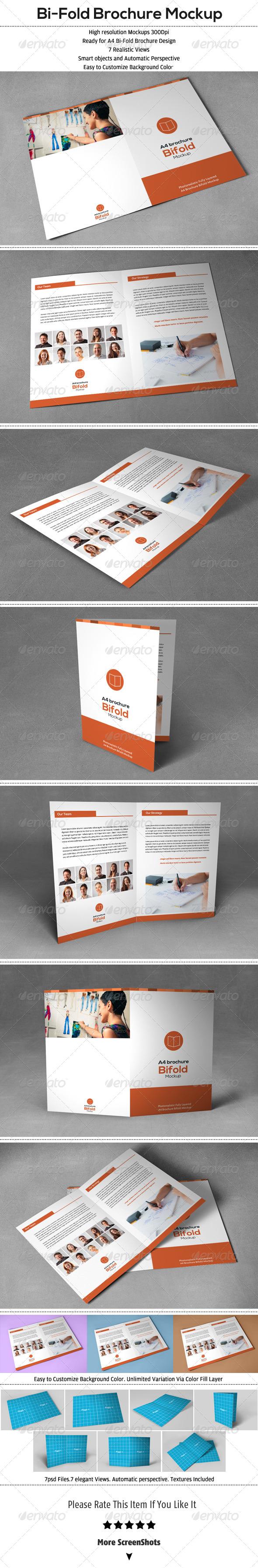Bi-Fold Brochure Mock-Up - Brochures Print