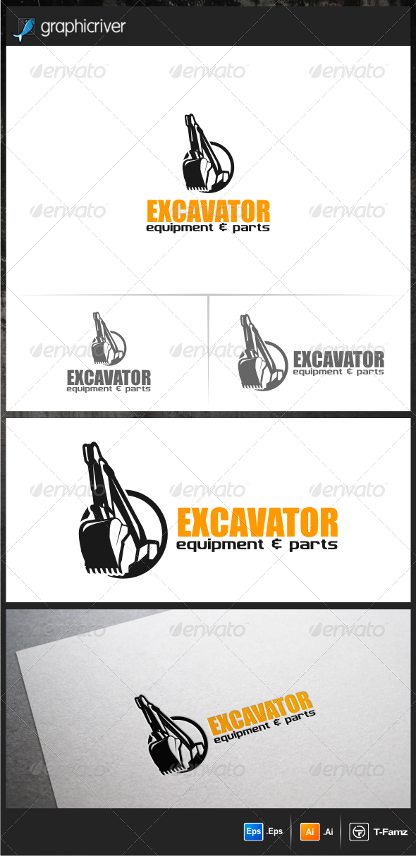 Excavator Logo Templates - Objects Logo Templates