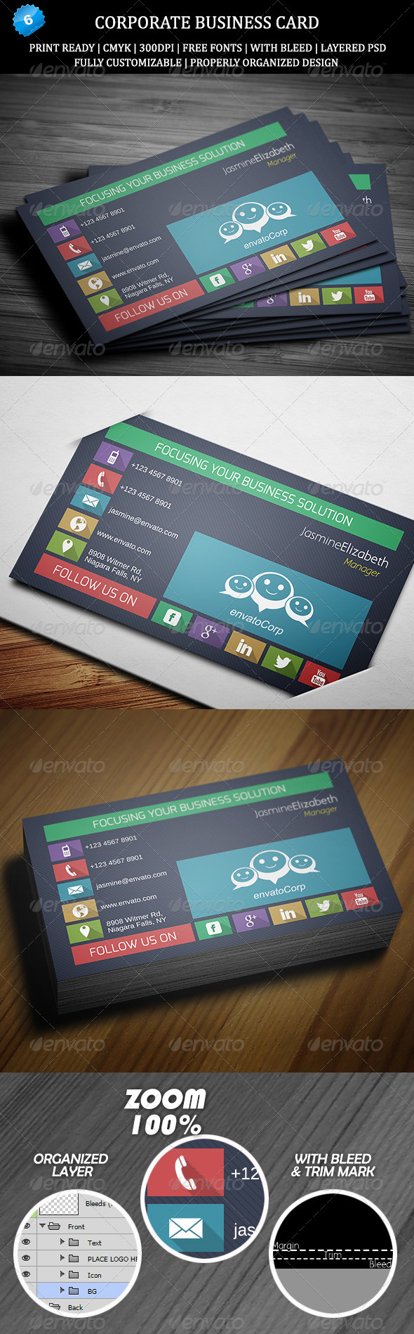 Corporate Business Card 6 - Creative Business Cards