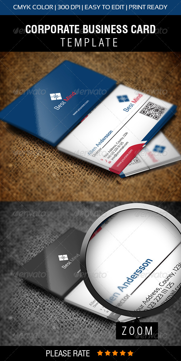 Mind Business Card - Corporate Business Cards