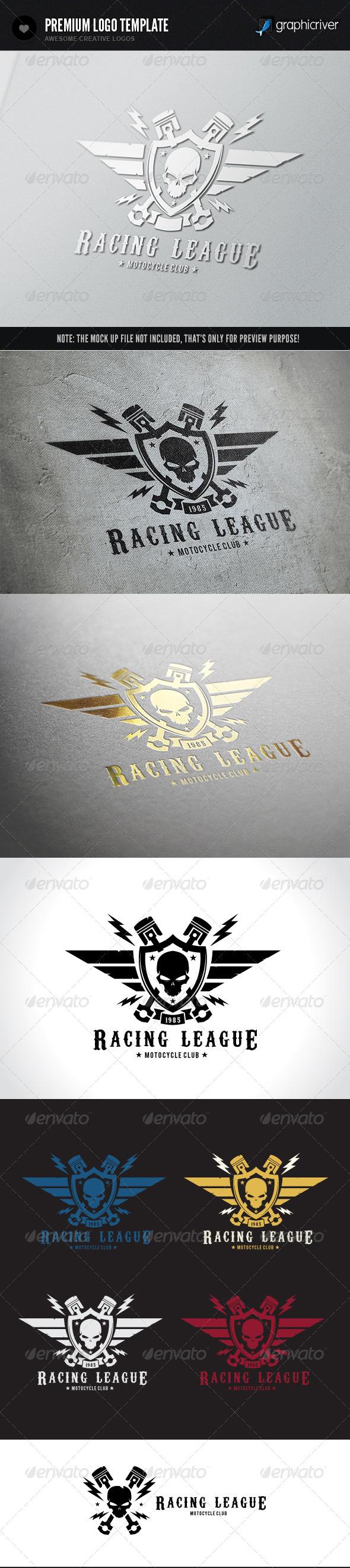 Racing League - Crests Logo Templates