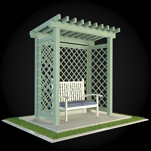 Pergola 010 - 3DOcean Item for Sale