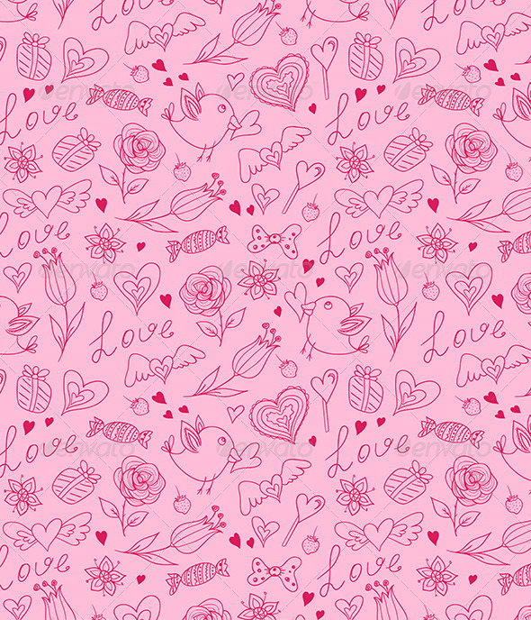 Seamless Pattern for Valentine's Day - Patterns Decorative