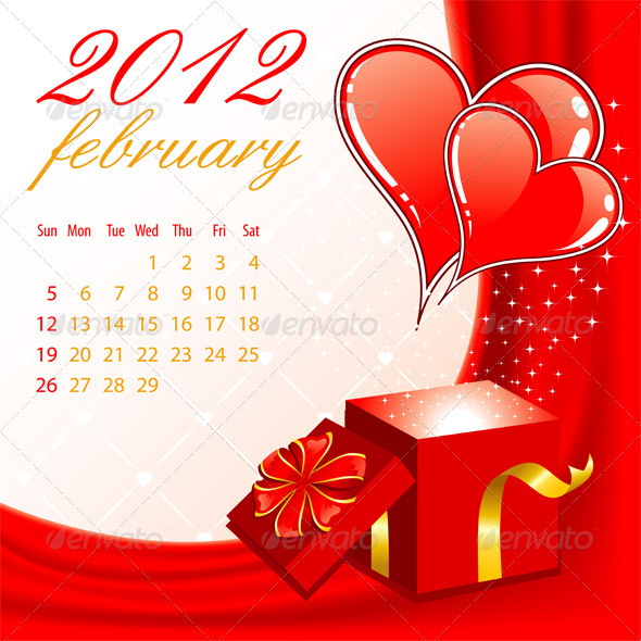 Calendar for 2012 February - New Year Seasons/Holidays