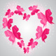 Heart and Pink  Butterflies - GraphicRiver Item for Sale