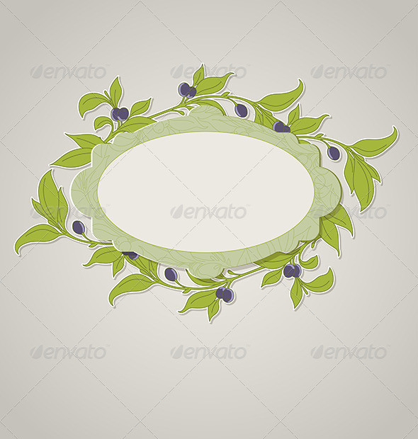 Green Olive Banner - Food Objects