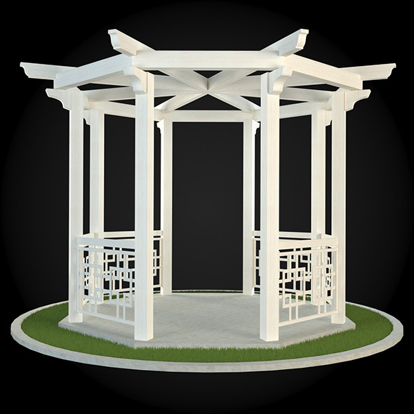 Pergola 019 - 3DOcean Item for Sale