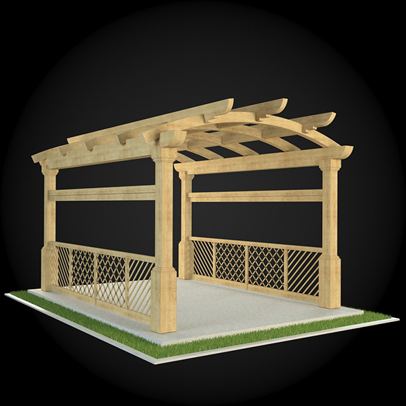 Pergola 023 - 3DOcean Item for Sale