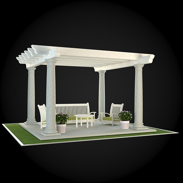 Pergola 024 - 3DOcean Item for Sale
