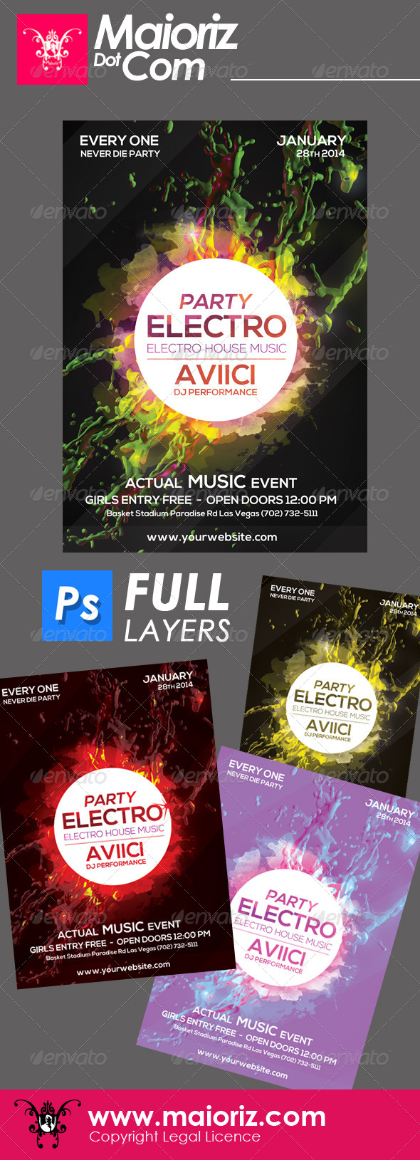 Electro Splash Flyer - Clubs & Parties Events