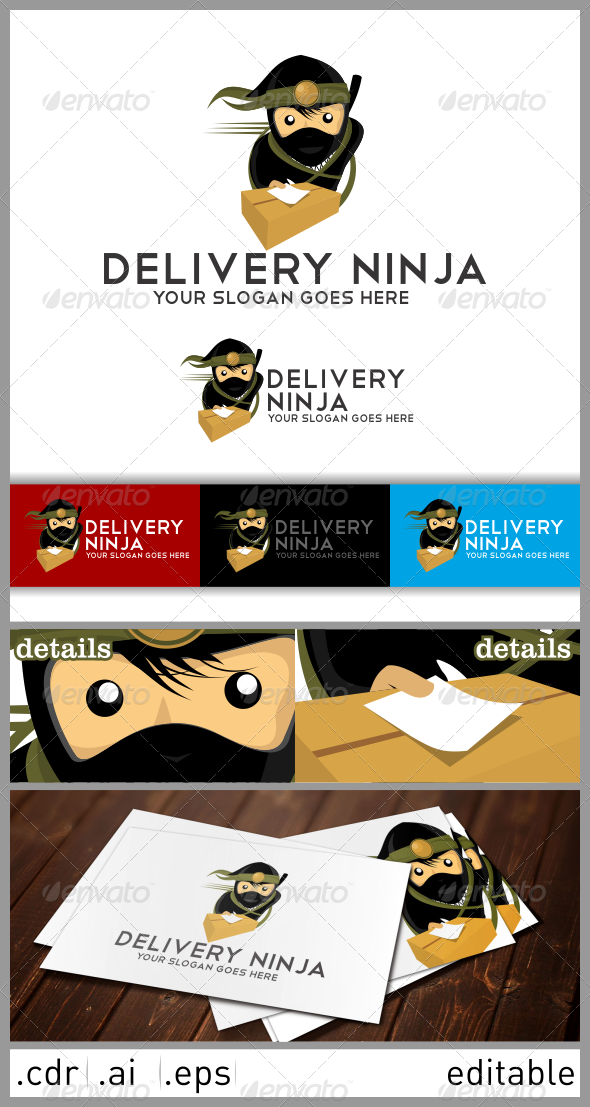 Delivery Ninja Logo - Humans Logo Templates