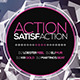 Action Satisfaction flyer  | + 10 Blur Backgrounds - GraphicRiver Item for Sale