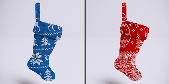 Christmas stockings (VrayC4D) - 3DOcean Item for Sale