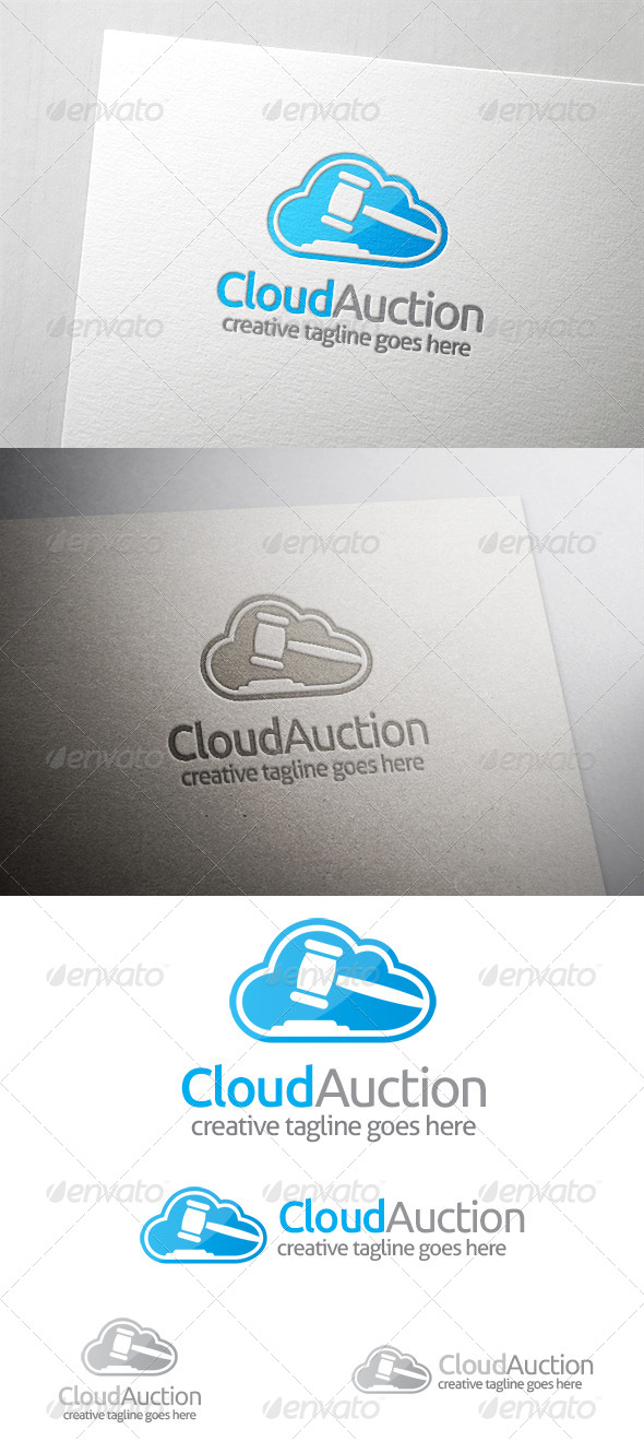 Cloud Auction Logo - Symbols Logo Templates
