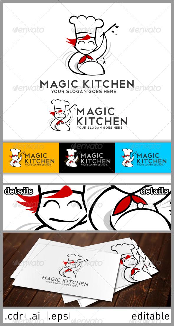 Magic Kitchen Logo - Food Logo Templates