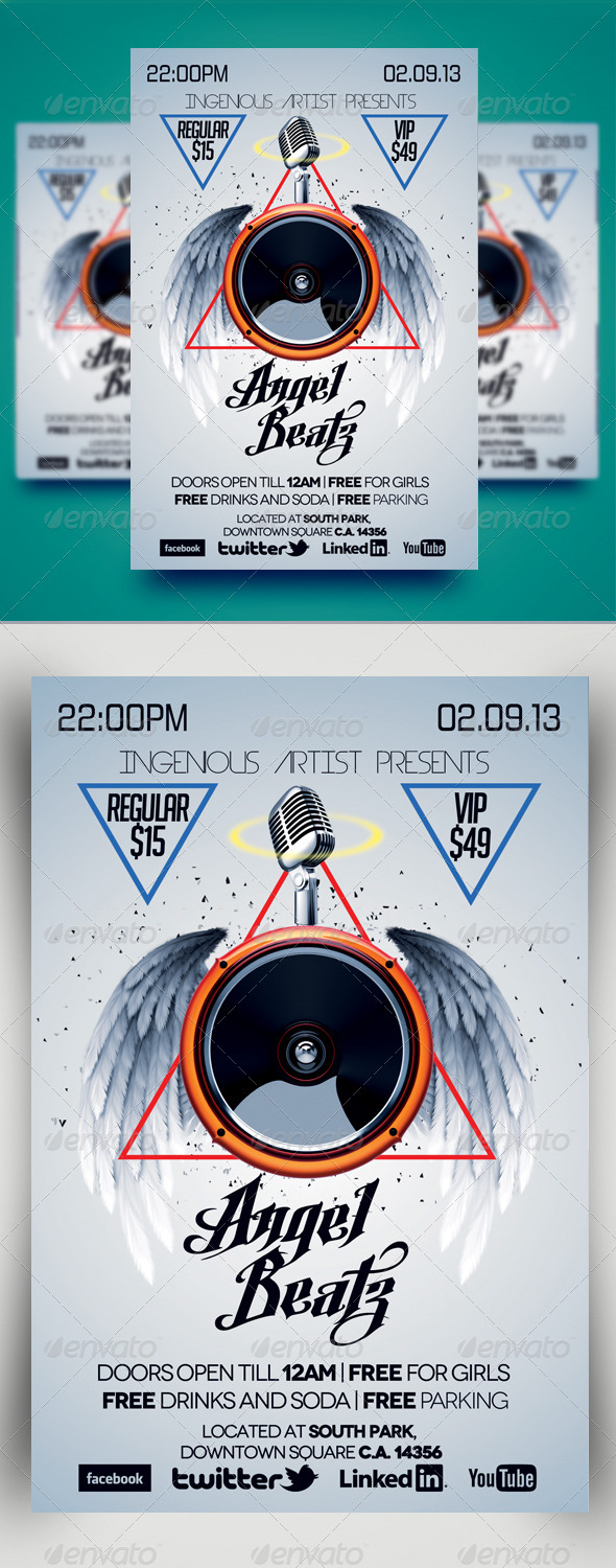 Angel Beatz Party Flyer - Clubs & Parties Events