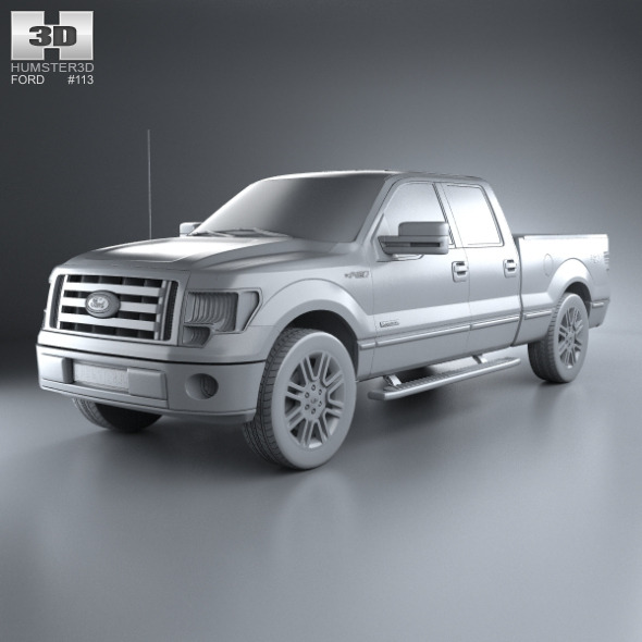 ford f 150 platinum super crew cab 2012 by humster3d 3docean. Black Bedroom Furniture Sets. Home Design Ideas