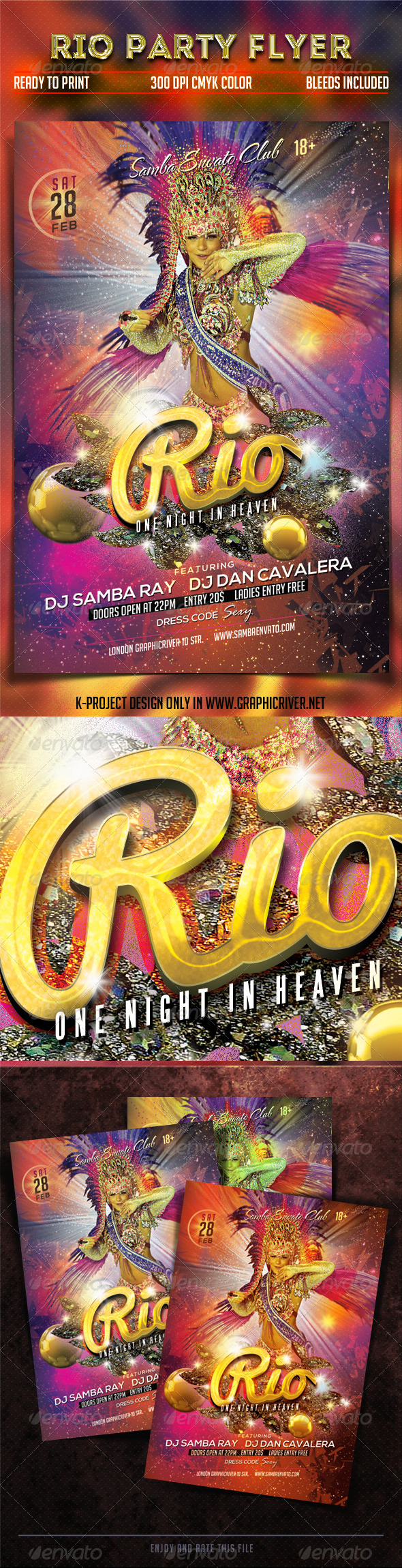 Rio Party Flyer - Clubs & Parties Events