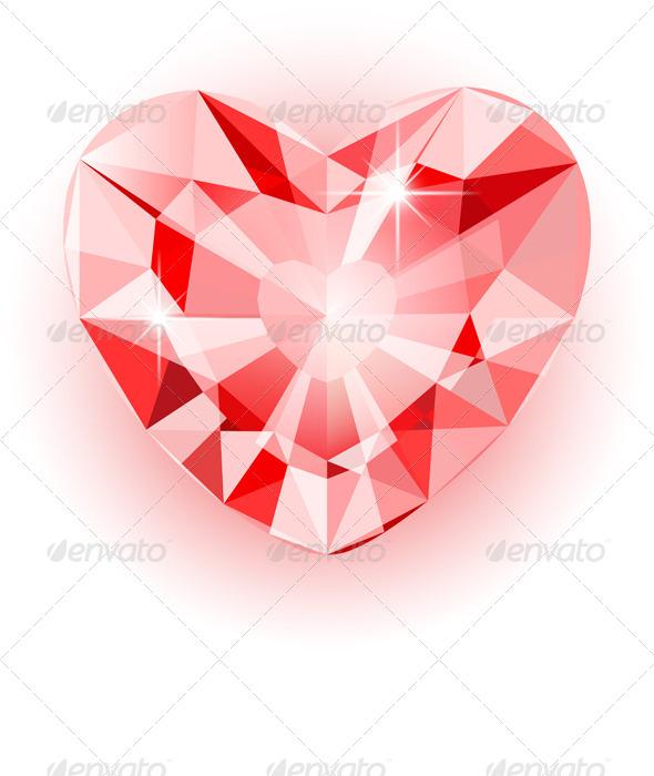 Diamond Heart - Valentines Seasons/Holidays