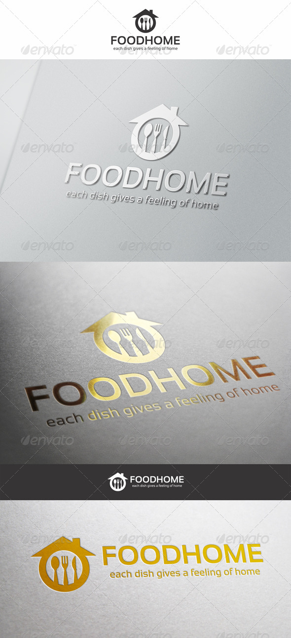 Food Home Cuisine Logo