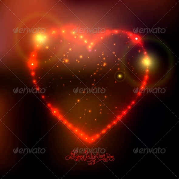 Love Heart Background from Bright Stars - Patterns Decorative