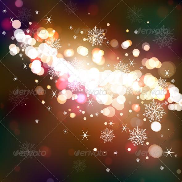 Winter Shining Background - Christmas Seasons/Holidays