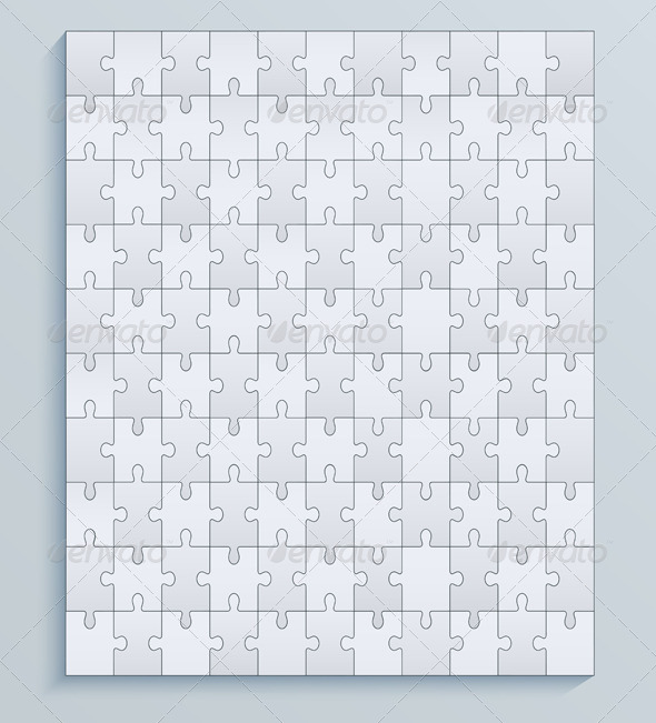 Parts Puzzles Seamless Pattern Jigsaw - Concepts Business