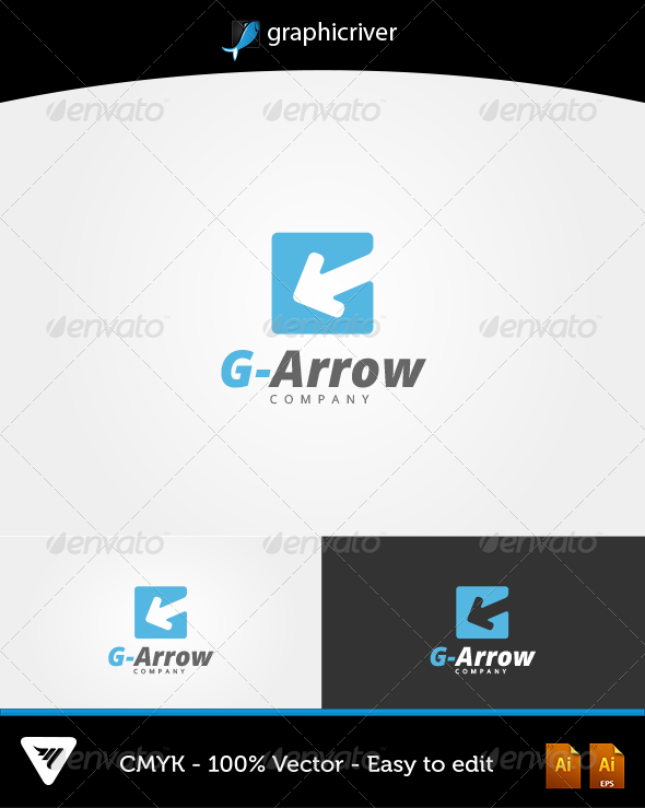 G-Arrow Logo - Logo Templates