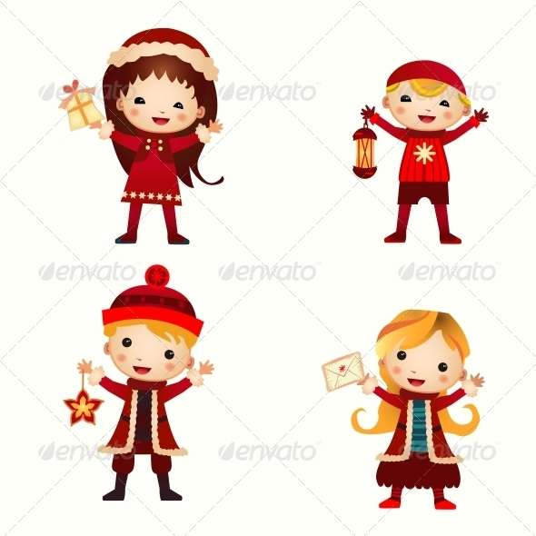 Christmas Kids Collection - People Characters