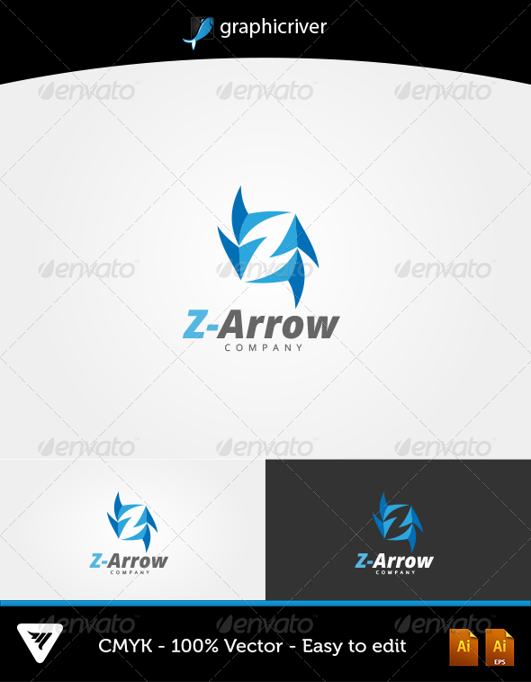 Z-Arrow Logo - Logo Templates