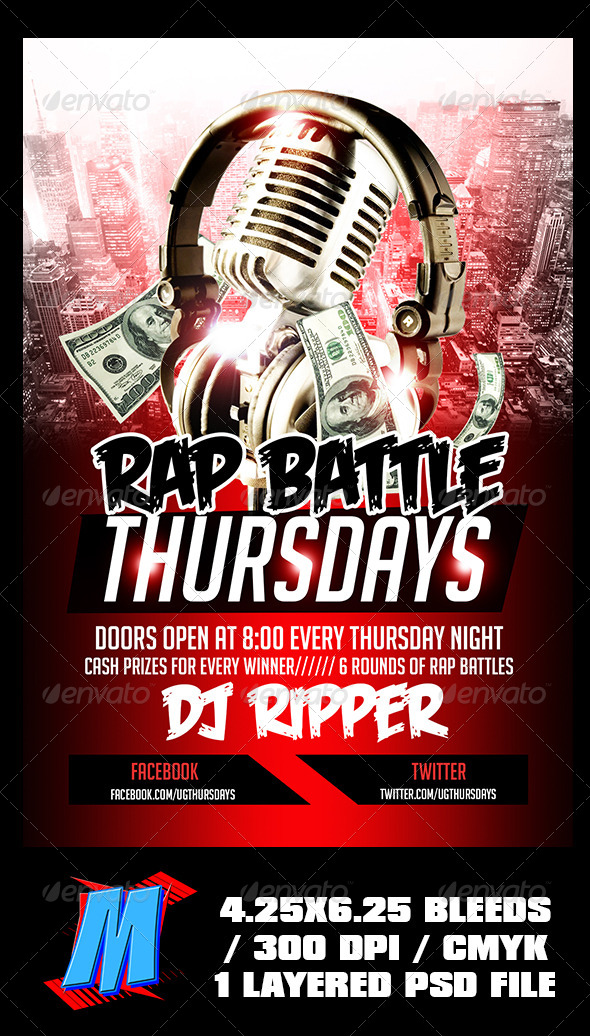 Rap Battle Thursdays Flyer Template - Events Flyers