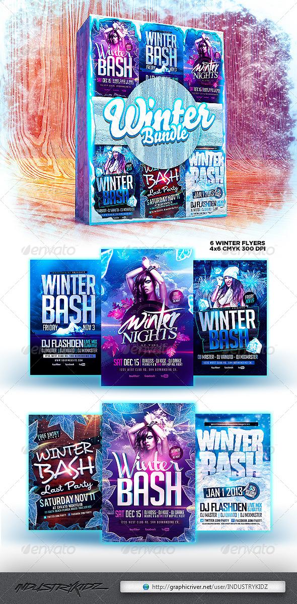 Winter Flyer Bundle - Clubs & Parties Events