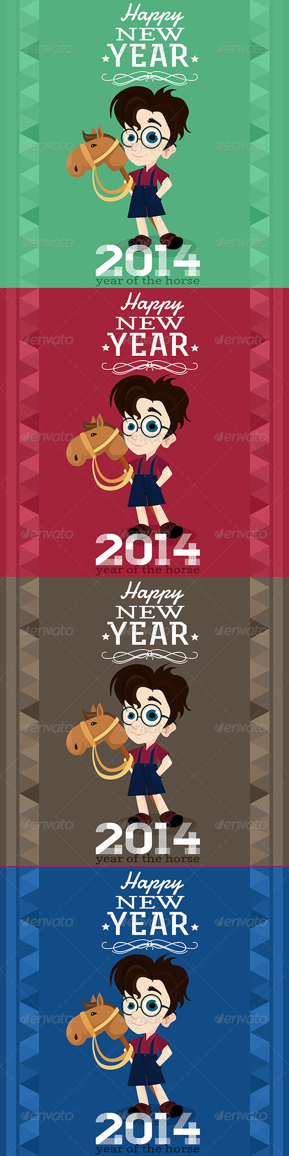 2014 Greeting Card, Year of the Horse - New Year Seasons/Holidays