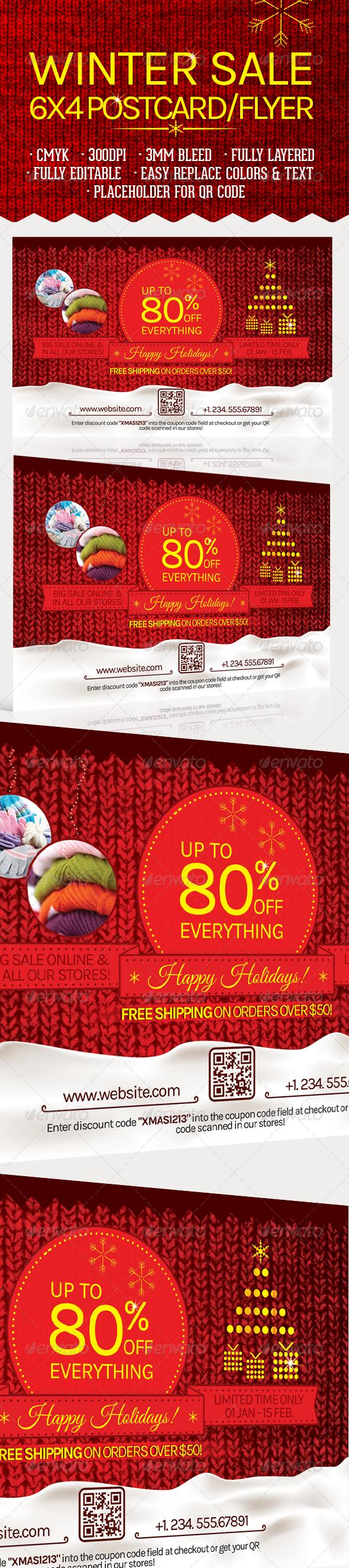 Winter Sale Postcard/Flyer - Commerce Flyers