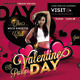 Flyer Valentine Party Day - GraphicRiver Item for Sale