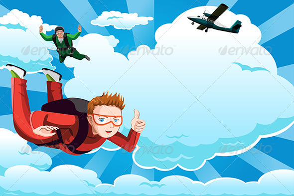 Skydiving - Sports/Activity Conceptual