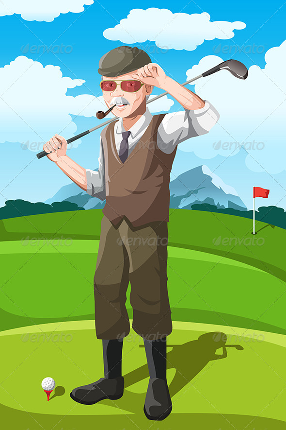 Senior Golfer - Sports/Activity Conceptual