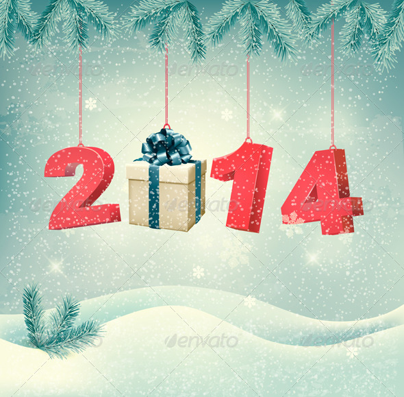 New Year Design Template Vector - New Year Seasons/Holidays