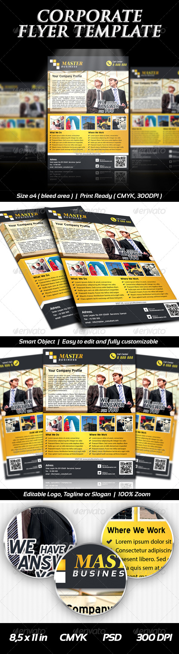 Corporate Business Flyer Templates - Professional - Corporate Flyers