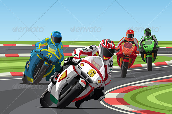 Motorcycle Racing - Sports/Activity Conceptual