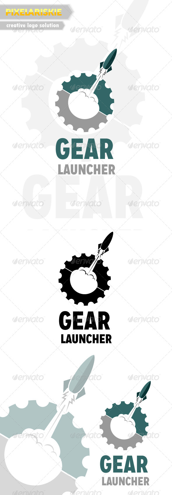 Gear Launcher Logo - Objects Logo Templates