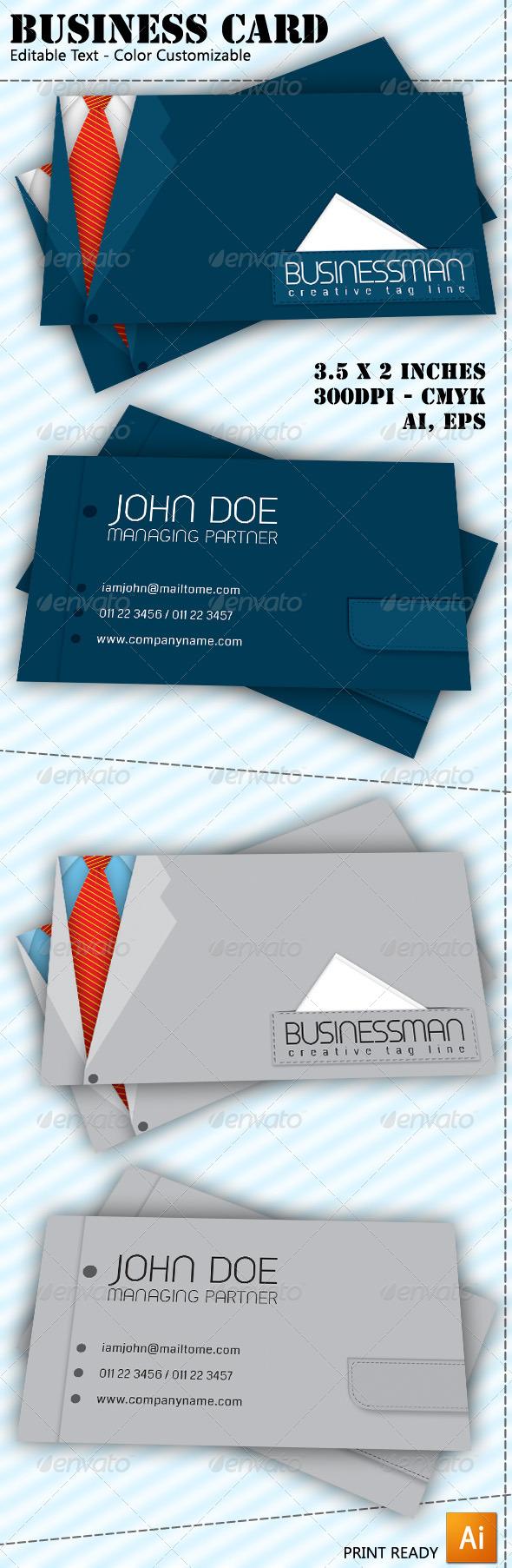 Businessman Business Card - Corporate Business Cards