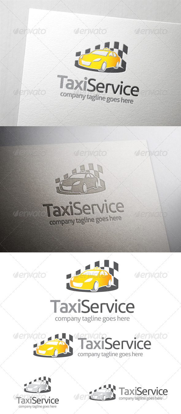 Taxi Service Logo - Objects Logo Templates