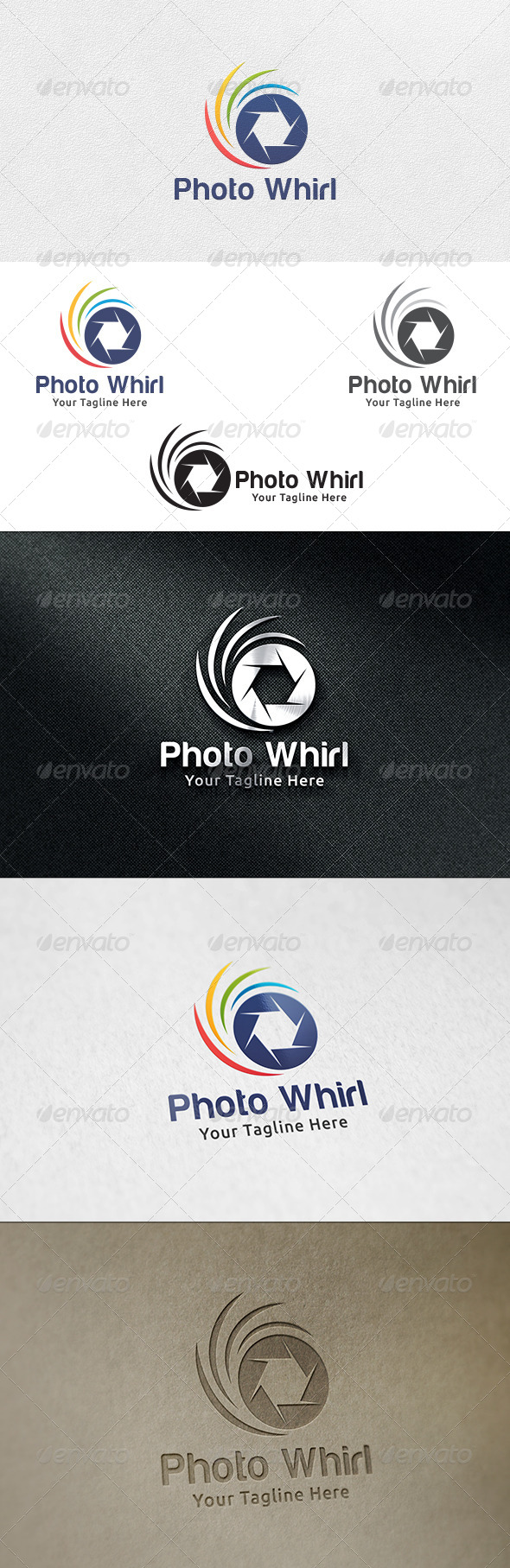 Photo Whirl - Logo Template - Symbols Logo Templates
