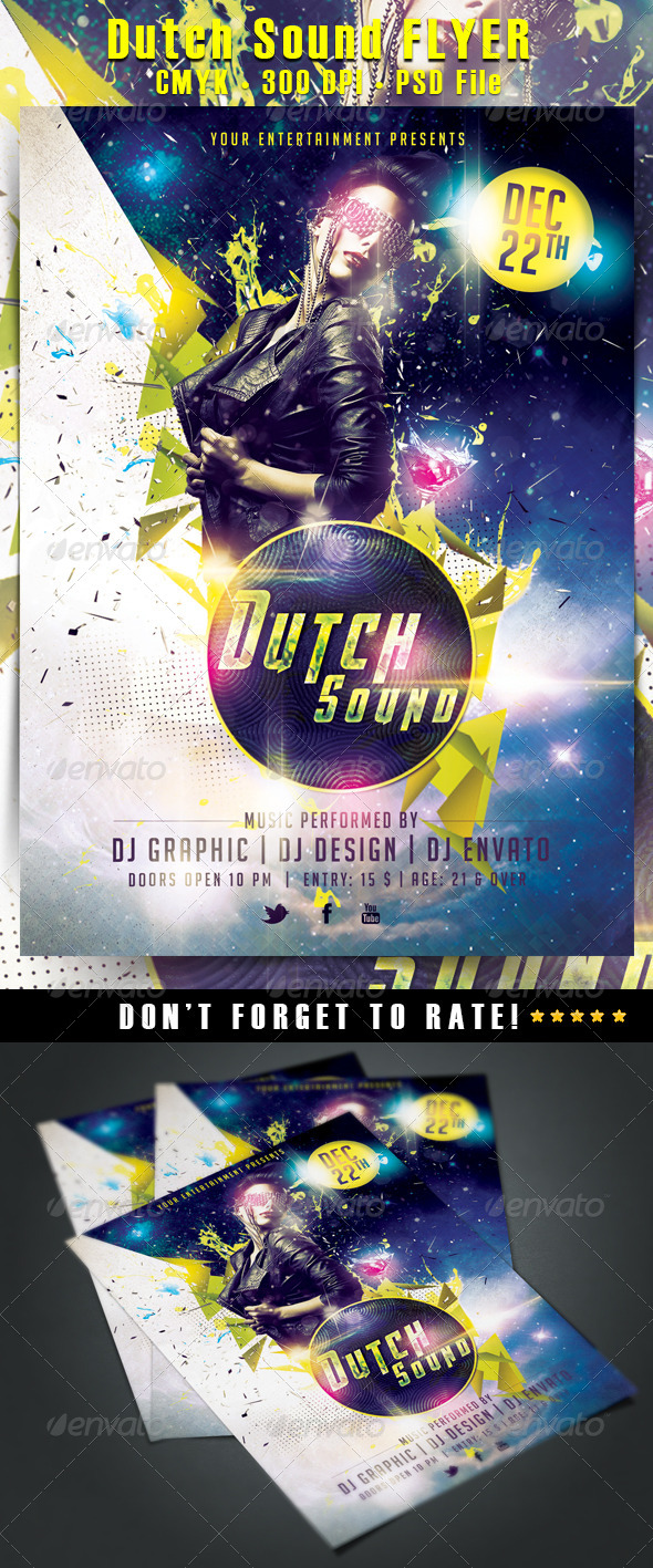 Dutch Sound Flyer - Clubs & Parties Events