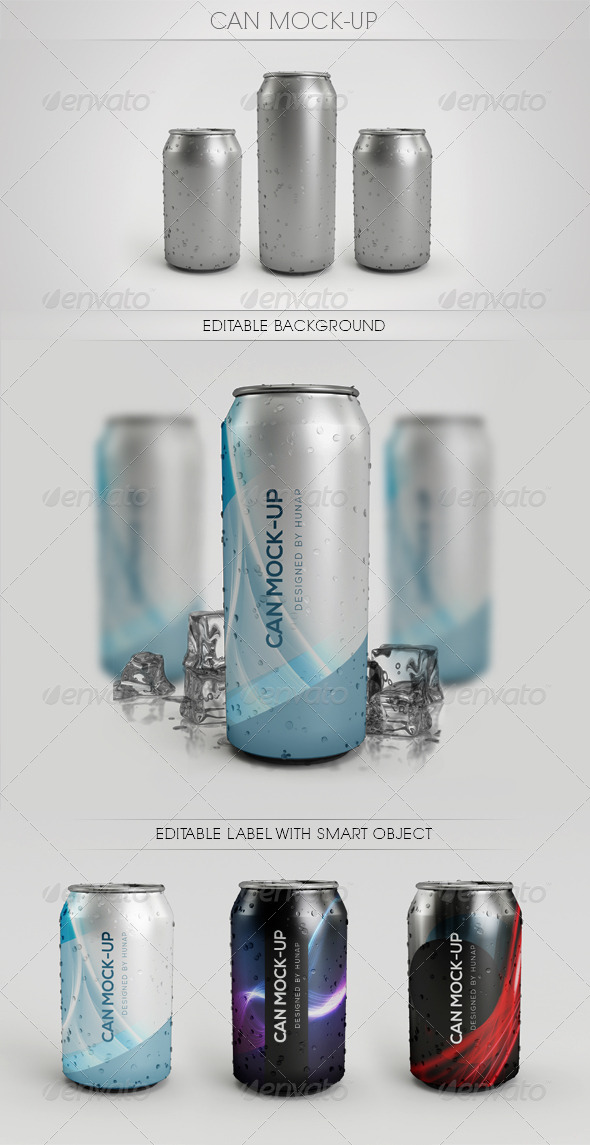 Can Mock - Up - Food and Drink Packaging
