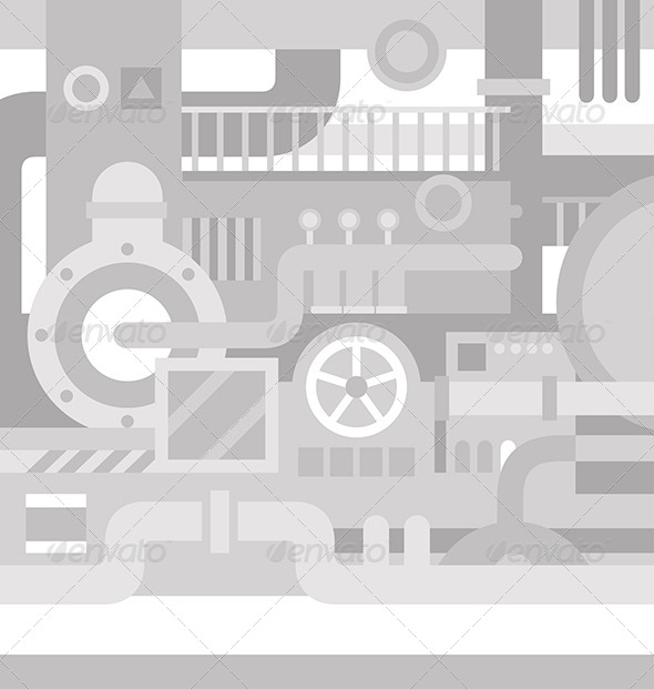 Mechanical Industrial Background - Backgrounds Decorative